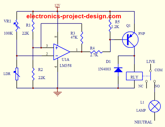 Light Dependent Resistor Application Circuit