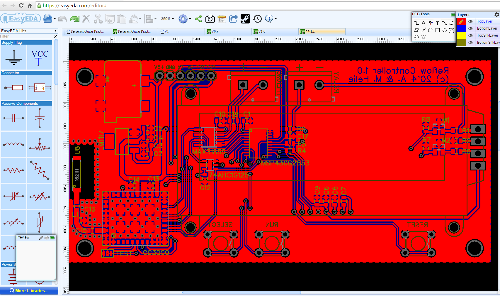 free electronics design software downloada screen capture of easyeda pcb design software