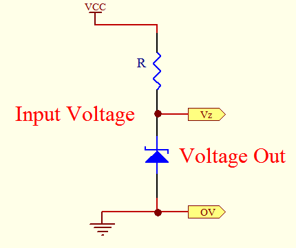 Zener diode as reference voltage